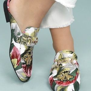 Tropical beaded mules